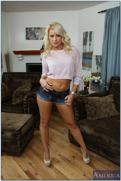 Tempting fairy MILF Anikka Albrite gets rid of her clothes