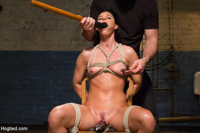 Milf in tight rope bondage squirting orgasms callous suspension
