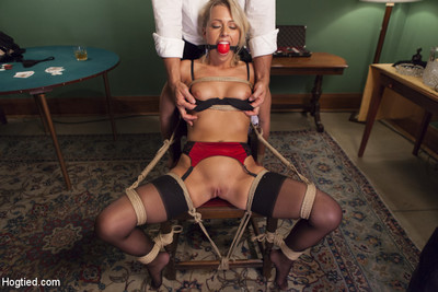 Sticky fairy with petite pussy bound and banged in pool hall