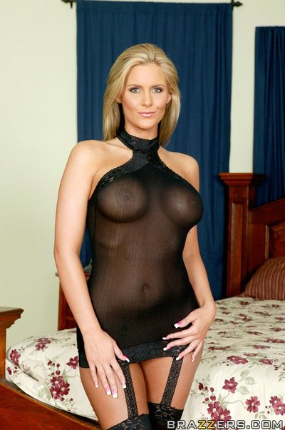Marvelous MILF Phoenix Marie takes her time to strip and expose her wazoo
