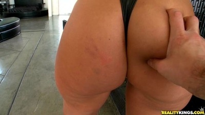 Boobsy pornstar madison rose receives her butt slapped