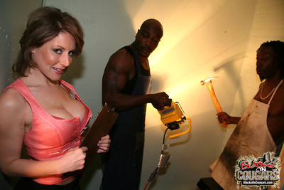 Titsy milf velicity von gains two fucked by brown males