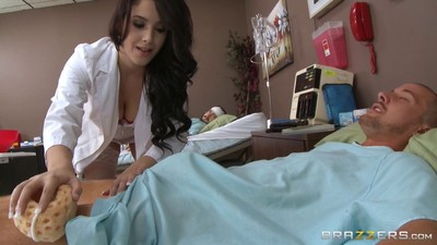 Breasty nurse noelle easton banged right at work