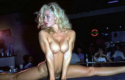 Sexy strippers with nice-looking milk sacks
