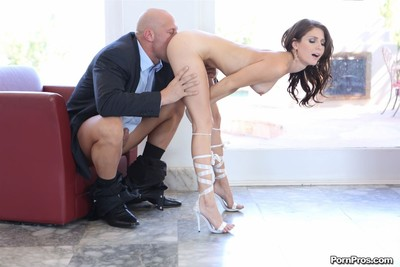 Jenni lee rides cock on the couch in white thong and heels