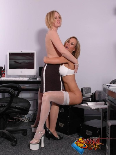 Brandi love office lesbos