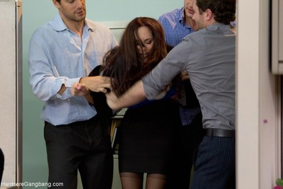 Milf with a giant woman passports gangbanged by coworkers