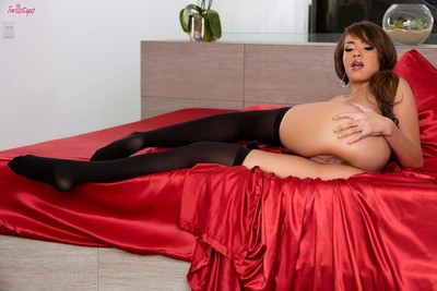 Cassidy banks boobsy queen in stockings location on a bed