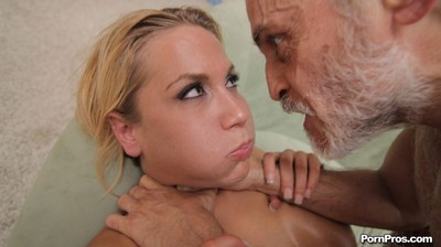 Sexy blonde beauty alanah rae sucking off a geezer