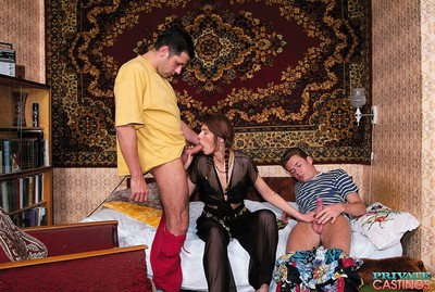 Russian caprice amateur in the unrevealed casting