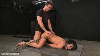 Damp cunt bonked and bound