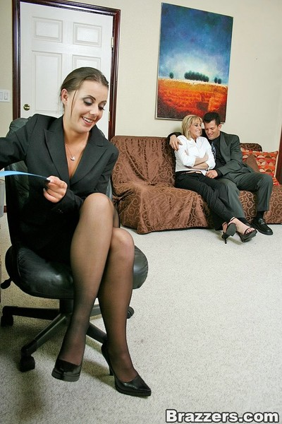 Busty office queens penny flame and eve lawrence accepts nailed by boss