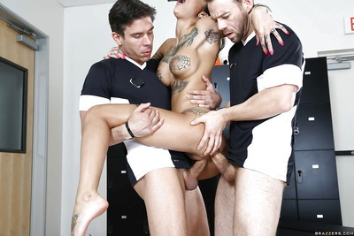 Bonnie rotten is taking part in a passionate gangbang groupsex action