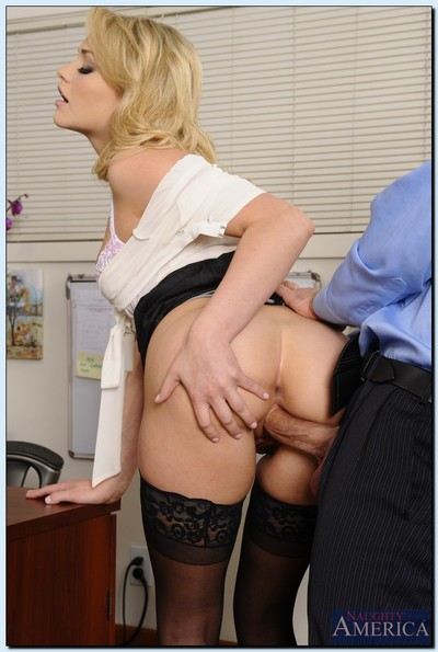 Slutty office hotty in nylons Mia Malkova gets fucked at her work place