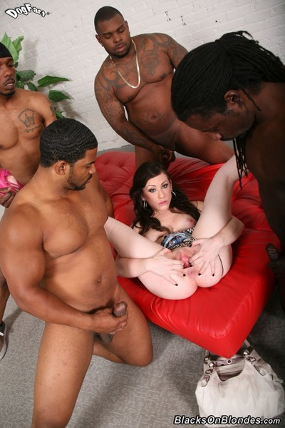 Jennifer white benefits from gangbanged