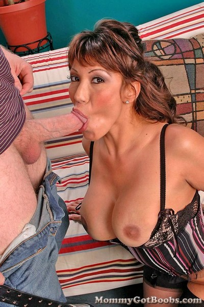 Busty full-grown ava devine taking in biggest cock.