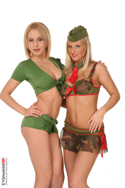 Stop watching photos and get mandy dee and barbie white stripping on your desk