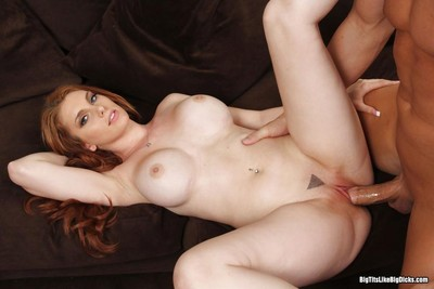Busty redhead lilith lust takes christian x monster prick