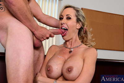 Brandi love is a boobsy secretary and wishes to attain a nice raise after hardcore se