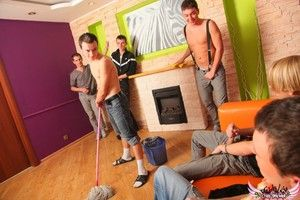 Males that cleaned transmitted to party house before girls arrived went homo