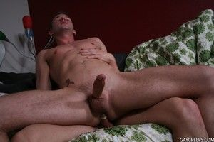Gay sucks and fucks his for all to see roomate