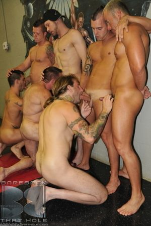 Group sex can fun, exhilarating plus a very huge turn-on. Especially if you re the one in the middle! Sage Daniels is the lucky bareback bottom, perched, gang-banged plus royally fucked by Kasey Anthony, Dominik Ryder, Travis Turner, Greg York, Peter Axel