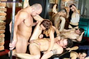 This kinky bisex party has cocks gliding in every aperture