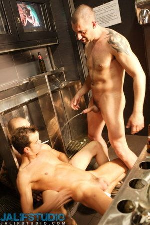 Always hit the restroom, watch all those men pissing coupled with wanted prevalent dread their living, breathing urinal! Jhony C did. Still does. Involving this scene he explores the fantasy of being used painless a piss whore for Ivan Alonso coupled with