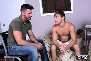 As suggested by the title, Johnny Rapid is a naive young man looking for guidance from an older friend. Staff Santoro is there to help above all when supportive involves fucking a tight young ass!