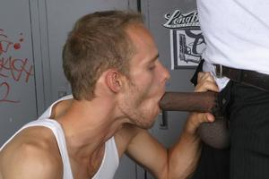 White gay Ryan Rex gets his ass drilled by sinister dude Hole Hunter.