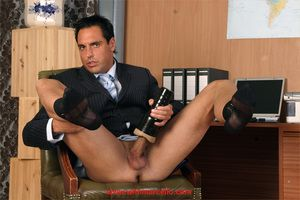 A name brand new fitted suit and sheer socks gets Marcellos cock nice and hard