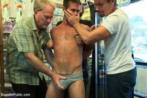 A thief more a hefty cock gets punished in public