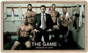 Menatplay kick-off 2014 with a 5-man muscle, fuck extravaganza. Jake Genesis is not happy with his teams performance on the field and has a number of enrol for them, but the guys are really fed up of hearing his lectures and they decide that its time to t