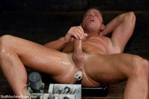 Tyler Saint gets fucked coupled with milked apart from huge fucking machines.