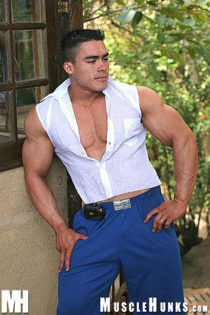 You can tell at a glance become absent-minded Manuel Melia s a happy-go-lucky guy. Last realm he was the invited mascot for a big weekend with the big boys winning bodybuilders-only isle resort MUSCLE EDEN...He and buddies Roberto Bueno and MH Star Amerig