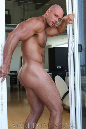 Apollo Phoenix is no traditional man of muscle. With his naturally hairy body he defies the cookie-cutter look of other bodybuilders with the addition of stands out on his own. At 64 Apollo turns heads everywhere he goes. And in the locker room, his horse