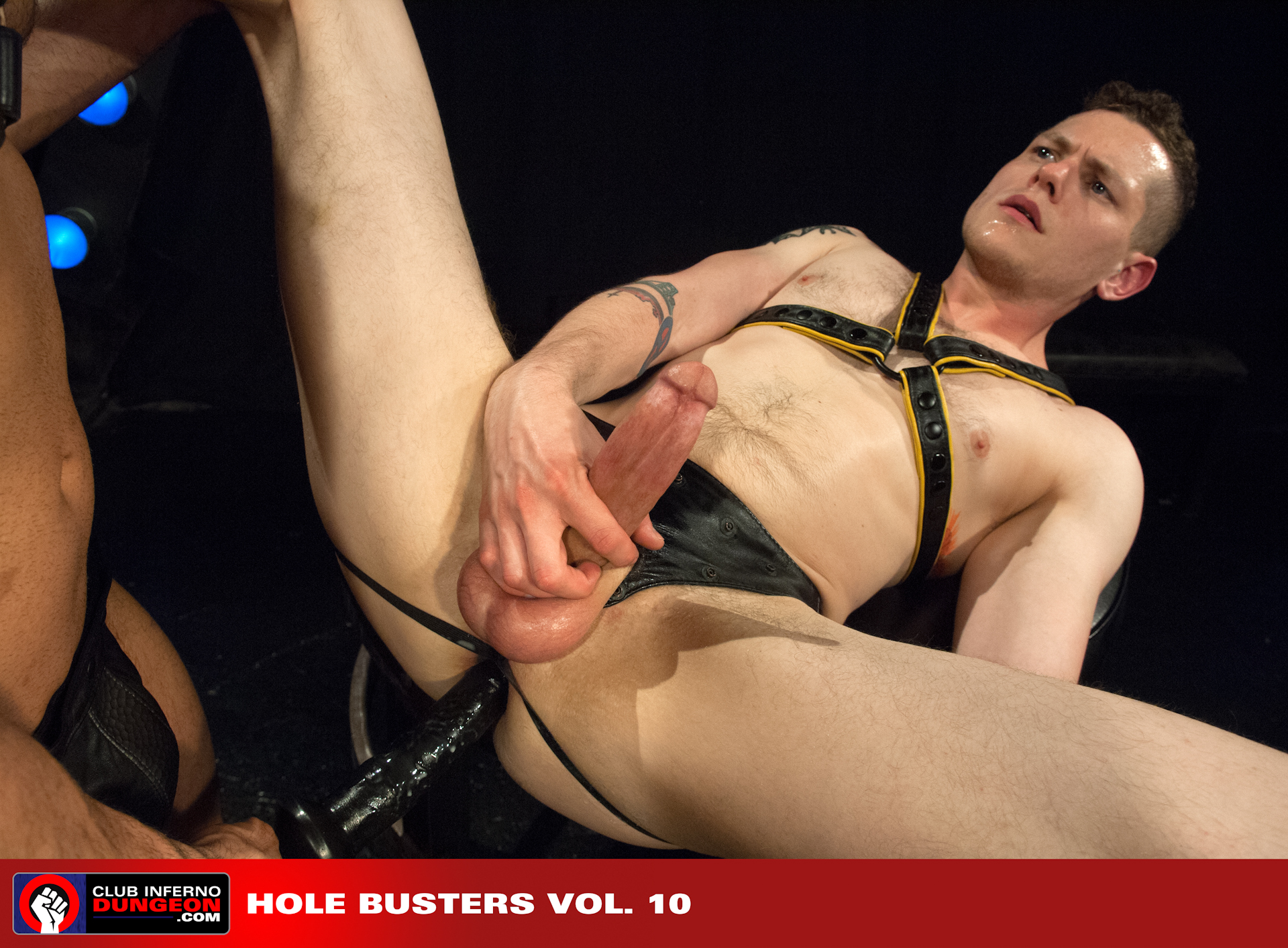 Marcus Ruhl spies Blue Bailey lying on his back accessible and waiting for some hardcore assplay. Marcus teases Blue's tight hole then makes him beg to be plowed with a footlong latex cock. Marcus works Blue's hole over long and hard then swaps in foreign