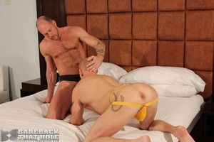 Randy Harden and Mason Garet take a crack at fantastic licentious chemistry in this steamy bareback romp. Mason chokes and gags on Randy learn of as he gets his throat fucked, then Randy teases and taunts him into a frenzy as chum around with annoy crow f