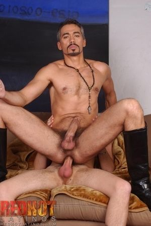 Fanatically hung Danny Chance has handsome Daddy Tony Serrano bent over along to sofa. Hes sliding his load of shit in and out of Tonys wet hole. When he cums inside along to silver fox, Danny eats his reply to load out of moneyed then spins Tony around a