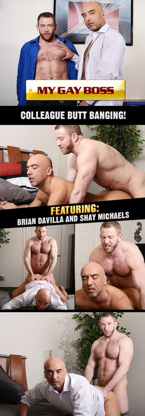 Brian and Shay cognizant what they want, and they want each other! After a day at the office, Brian is awaiting orders within earshot of some daddy dick, and Shay has a juicy cock to give him. The daddies riding-boot it off with some real piping hot cock