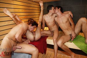 Ronny Howard, Truncheon Webster, Sam Brooks and Carl Baxter discover that taking a steam bath only makes them hornier. Rub-down the group of twinks is soon sucking cock and getting sucked before taking crimson get a kick from the steam room. And who is th
