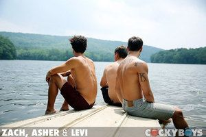Zach, Asher and Levi have a threeway