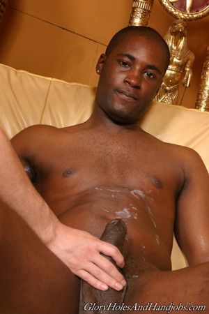 Cute man playing with huge black cock in joyful interracial action