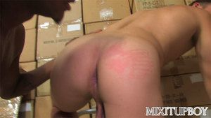 Jesse Rabbit and Micah Andrews pulling a late night session stocking boxes in tha porno shoppe looking for some emptiness of dvds in a little while the two realize aint noone under other circumstances around, so they succeed in horny as dear one and Jesse