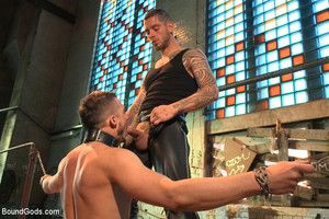 World Debut of Logan McCree in a BDSM video.