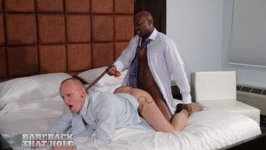 Super hung Champ Robinson and his mouth watering black cock -- which looks like a huge slab of chocolate -- is paired with Mason Garet for our bareback fantasy with well-dressed men. Relating to fact, looking at them in their dress shirts, ties, and knee-