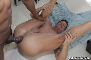 Stuffing his fat cock into his tight little asshole