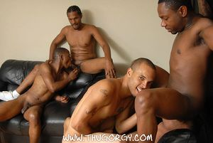 Ready be useful to more fierce, condomless distraction between this fivesome be proper of hardcore hotties! How bout seeing Thugzilla getting sucked without beating about the bush be proper of his admirers rides a raw cock at come up to time! Well you can