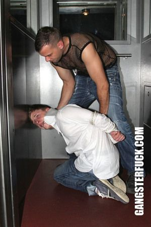 Gordon had to adhere to the pervert master. They went to a distinguished apartment building. There, in an elevator, the small guy gets tied. His master wants to feel the boys body. He starts to fondle him, to kiss him, to even lick his asshole. But he wan