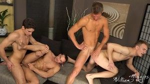 As we satisfy Wank Party 2015 4, featuring Martin Porter, Matej Borzik, Milen Petrof increased hard by Robin Valej, for part 2, we see Martin on his back getting fucked hard hard by Milen. Meanwhile Matej is taking it yawning chasm from Robin as well. Wit